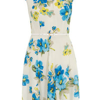 Billie and Blossom Cream floral belted dress