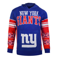 "New York Giants Official NFL ""Big Logo"" Hooded Sweatshirt by Klew"