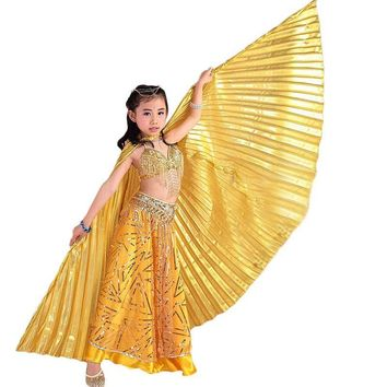 Children Dance Performance Props Belly Dance Accessories Egyptian Gold Wings Non-split Gold/Silver Isis Wings No Sticks
