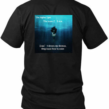 Bring Me To The Horizon Bmth Fahion 2 Sided Black Mens T Shirt