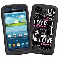 """Love """"Protective Decal Skin"""" for LifeProof fre/nuud Samsung Galaxy S4 Case"""