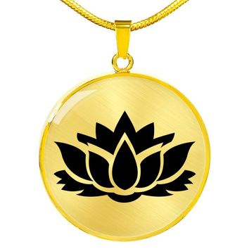 Lotus Flower - 18k Gold Finished Luxury Necklace