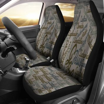 Custom-Made Holy Bible Books Grey Car Seat Covers