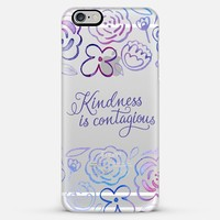 Kindness is Contagious iPhone 6 Plus case by Noonday Design | Casetify