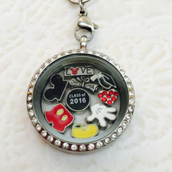 Snow White  inspired sliver stainless steel memory locket comes with choice of stainless steel chain