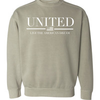 'United' Comfort Colors Sweatshirt