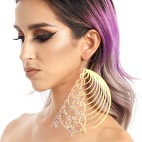 Holographic Initial Prime Earrings