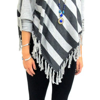 Cella Poncho Sweater Pullover with Sleeves