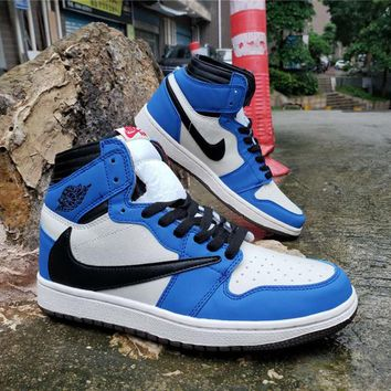 Air Jordan 1 High OG TS SP White/Black/Royal Blue