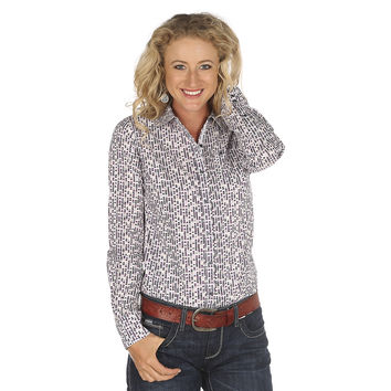 Women's Ariat Kirby Purple Print Shirt