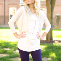 Piko - Top 3/4 sleeve - Cream