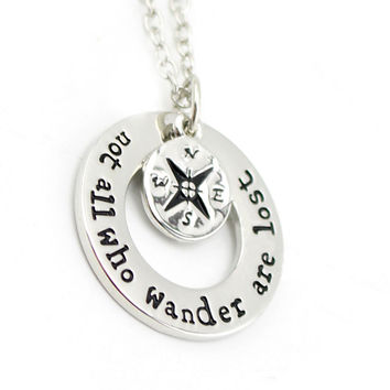 Wanderlust Travelers Necklace Inspirational Gift For Globe-Trotter