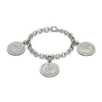 Gucci Bracelet in silver with coin charms