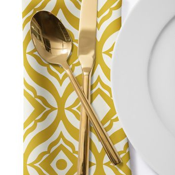 Heather Dutton Trevino Yellow Cloth Napkin