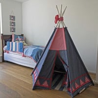 TeePee handmade Sewing Pattern Instant Download wonderful outside or inside kids tent, tipi, tepee or wigwam.