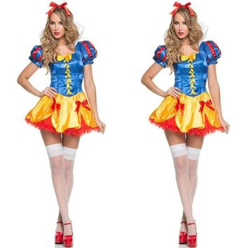PEAPIX3 Snow White Princess Dress Lights Lovely Halloween Costume [9220883972]