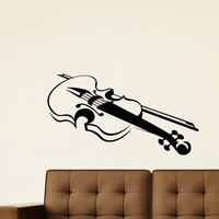 Wall Decal Vinyl Sticker Music Violin Decor Sb397