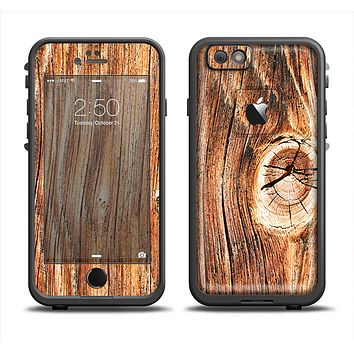 The Knobby Raw Wood Apple iPhone 6/6s LifeProof Fre Case Skin Set