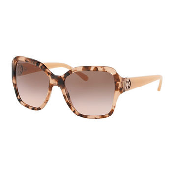 Tory Burch Square Acetate Gradient Sunglasses