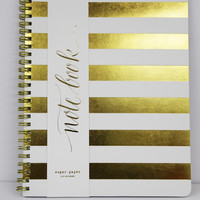 White Cabana Stripe Notebook