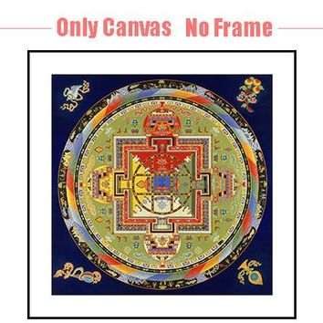 Thangka Mandala Buddha Painting Spiritual Tibetanos Pinturas Religion Cuadro Oil Painting Canvas Art Wall Pictures Mandalas Art