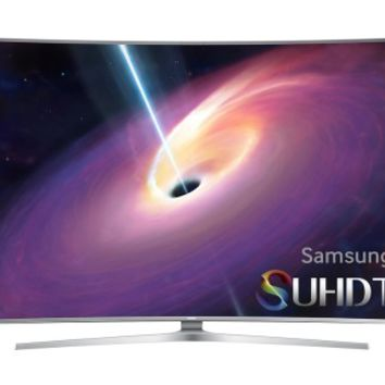 "Samsung - 55"" Class (54.6"" Diag.) - LED - Curved - 2160p - Smart - 3D - 4K Ultra HD TV - Silver"