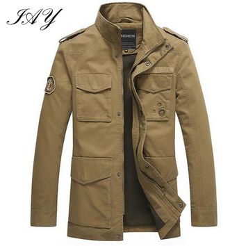 Military German style men Jacket Thicken army green male Parka loose solid color hombre Winter outerwear size:M-3XL men coat