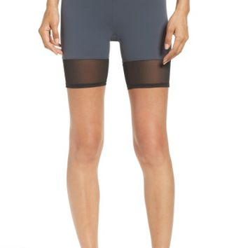 Zella Mia High Waist Mesh Bike Shorts | Nordstrom