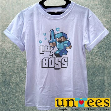 Low Price Women's Adult T-Shirt - Minecraft Like a Boss design