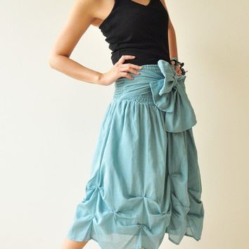 Baby Doll Blue Cotton Dress/Skirt by aftershowershop on Etsy