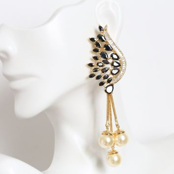 Contemporary Black Earrings
