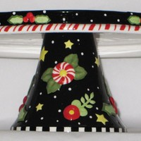 Tis The Season Pedstal Cake Plate-71126