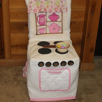 Play Kitchen Stove Chair Cover, Cloth Play Kitchen Chair Cover, Kitchen Stove, C63