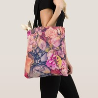 Beautiful Bag With Different Flowers
