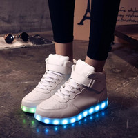 Hoverkicks Hightop White LED Shoes Unisex