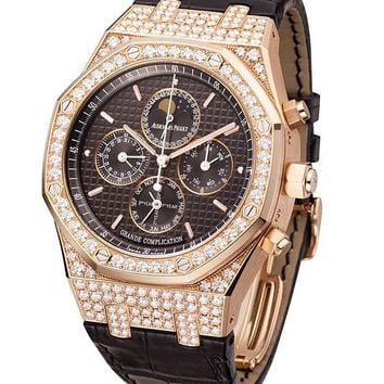 Audemars Piguet Royal Oak Grande Complication Diamond and Rose Gold Men\'s Watch