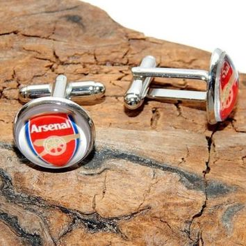 Arsenal fc Football Club logo cufflinks Arsenal simbol Football soccer cuff link