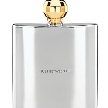 Kate Spade Two Of A Kind Gold Faceted Flask, Just Between Us Steel