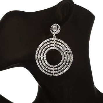 Elena- Luxury Statement Crystal Rhinestone Earrings