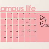 Dry Erase Wall Calendar, Planner, To Do List, and Memo Decal for Dorm and Campus Living