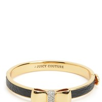 Bow Leather Hinge Bangle by Juicy Couture, O/S
