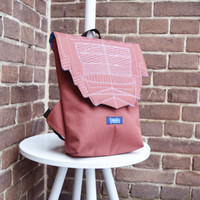 Backpack unisex brown hipster backpack rucksack cycling bag waterproof small mini backpack Zurichtoren geometric simple minimalist backpack