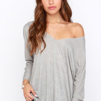 Project Social T Sagebrush Beauty Grey Top