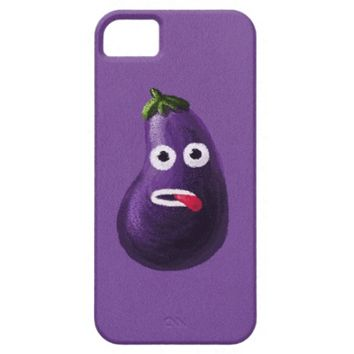 Purple Funny Cartoon Eggplant iPhone 4 Covers