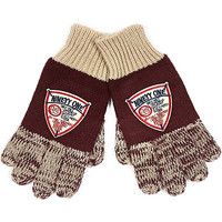 River Island Boys red flecked badge gloves