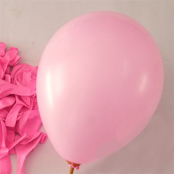 Latex Solid Balloons, 12-inch, 12-Piece, Pink