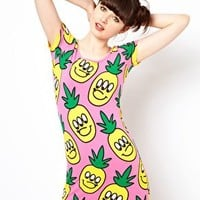 Lazy Oaf Pineapple Body Con Dress at asos.com