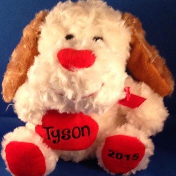 Personalized Large Stuffed Dog, Valentine's Day, New Baby, Super Soft
