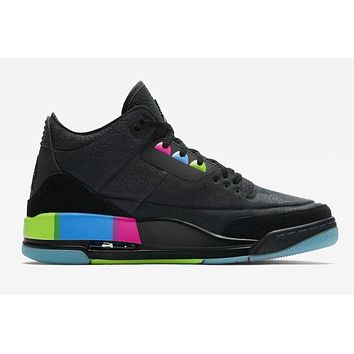 Air Jordan 3 Retro Black Colorful Sneaker Shoes | Best Deal Online