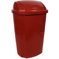 Hefty Red 13.5 Gallon Swing Lid Trash Can
